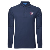 Navy Long Sleeve Polo-K Tornado w/Tornado