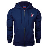 Navy Fleece Full Zip Hoodie-K Tornado w/Tornado