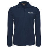 Fleece Full Zip Navy Jacket-King University