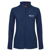 Ladies Fleece Full Zip Navy Jacket-King University