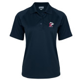 Ladies Navy Textured Saddle Shoulder Polo-K Tornado w/Tornado