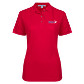 Ladies Easycare Red Pique Polo-King Tornado w/Tornado