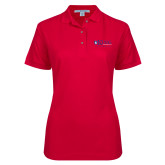 Ladies Easycare Red Pique Polo-King University