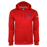 Under Armour Red Performance Sweats Team Hoodie-K Tornado w/Tornado