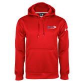 Under Armour Red Performance Sweats Team Hoodie-King Tornado w/Tornado