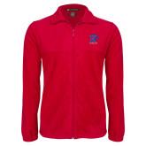 Fleece Full Zip Red Jacket-K Tornado w/Tornado