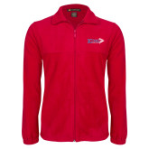 Fleece Full Zip Red Jacket-King Tornado w/Tornado