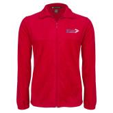Fleece Full Zip Red Jacket-King Tornado w/Tornado
