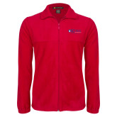 Fleece Full Zip Red Jacket-King University