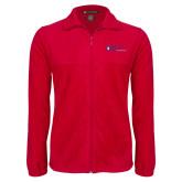 Fleece Full Zip Red Jacket-King University