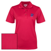 Ladies Red Dry Mesh Polo-K Tornado w/Tornado