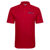 Red Textured Saddle Shoulder Polo-King University