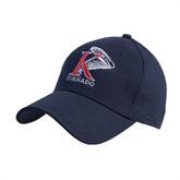 Navy Heavyweight Twill Pro Style Hat-K Tornado w/Tornado