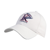 White Heavyweight Twill Pro Style Hat-K Tornado w/Tornado