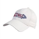 White Heavyweight Twill Pro Style Hat-King Tornado w/Tornado