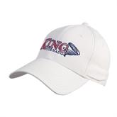White Heavyweight Twill Pro Style Hat-King Tornado w/Tornado