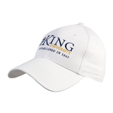 White Heavyweight Twill Pro Style Hat-King University
