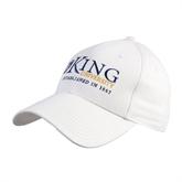 White Heavyweight Twill Pro Style Hat-King University