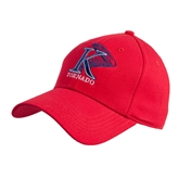 Red Heavyweight Twill Pro Style Hat-K Tornado w/Tornado