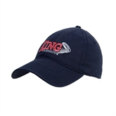 Navy Twill Unstructured Low Profile Hat-King Tornado w/Tornado