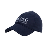 Navy Twill Unstructured Low Profile Hat-King University