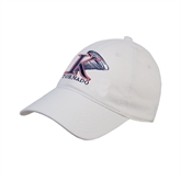 White Twill Unstructured Low Profile Hat-K Tornado w/Tornado