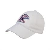White Twill Unstructured Low Profile Hat-K Tornado w/Tornado