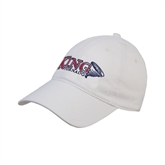 White Twill Unstructured Low Profile Hat-King Tornado w/Tornado