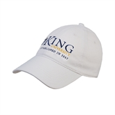 White Twill Unstructured Low Profile Hat-King University