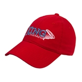 Red Twill Unstructured Low Profile Hat-King Tornado w/Tornado