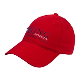 Red Twill Unstructured Low Profile Hat-King University