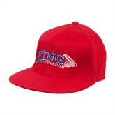 Red OttoFlex Flat Bill Pro Style Hat-King Tornado w/Tornado