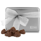 Decadent Chocolate Clusters Silver Large Tin-King Tornado Engraved