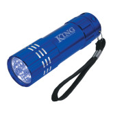Industrial Triple LED Blue Flashlight-King Tornado Engraved