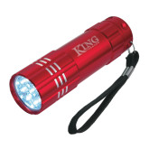 Industrial Triple LED Red Flashlight-King Tornado Engraved