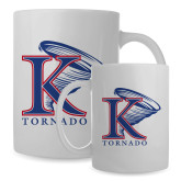 Full Color White Mug 15oz-K Tornado w/Tornado