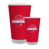Full Color Glass 17oz-2018 Mens Volleyball Champions