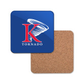 Hardboard Coaster w/Cork Backing-K Tornado w/Tornado