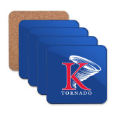 Hardboard Coaster w/Cork Backing 4/set-K Tornado w/Tornado