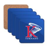 Hardboard Coaster w/Cork Backing 4/set-K Tornado w/Tornado