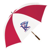62 Inch Red/White Vented Umbrella-K Tornado w/Tornado