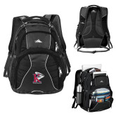 High Sierra Swerve Black Compu Backpack-K Tornado w/Tornado