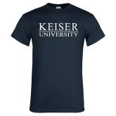 Navy T Shirt-University Wordmark