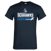 Navy T Shirt-Seahawks Track and Field Stacked