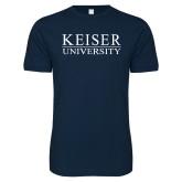 Next Level SoftStyle Navy T Shirt-University Wordmark