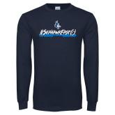 Navy Long Sleeve T Shirt-#SeahawkFast