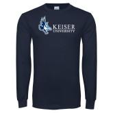 Navy Long Sleeve T Shirt-Institutional Logo