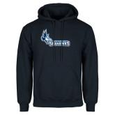 Navy Fleece Hoodie-Primary Logo