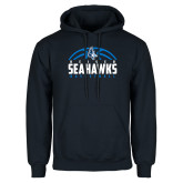 Navy Fleece Hoodie-Seahawks Basketball Half Ball