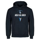Navy Fleece Hoodie-Seahawks Lacrosse Geometric